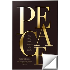 Gold Letters Peace