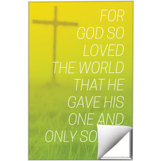 Color Wash John 3:16 Wall Art