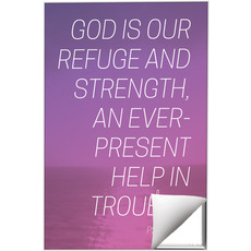 Color Wash Psalm 46:1 Wall Art