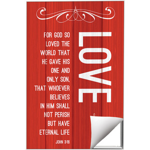 Painted Wood Love Wall Art
