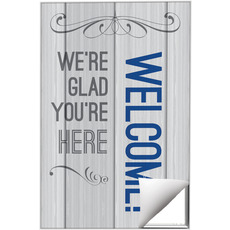 Painted Wood Welcome Wall Art