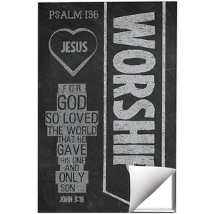 Chalkboard Art Worship 24 x 36 Quick Change Art