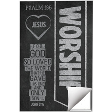 Chalkboard Art Worship Wall Art