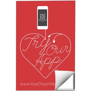 Church App 24 x 36 Quick Change Art