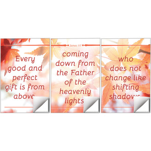James 1:17 Leaves Wall Art