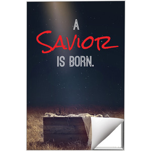Savior Born 24 x 36 Quick Change Art