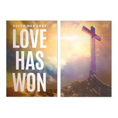 Love Has Won Pair Wall Art