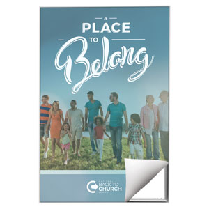 Back to Church Sunday: A Place to Belong Wall Art