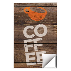 Shiplap Coffee Natural Wall Art