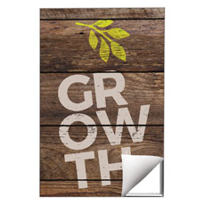 Shiplap Growth Natural Wall Art