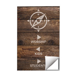Shiplap Natural Directional Wall Art