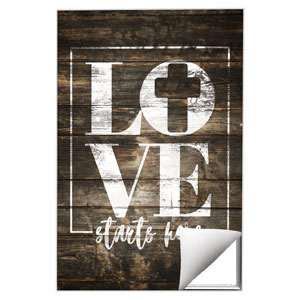 Love Starts Here Wood Wall Art
