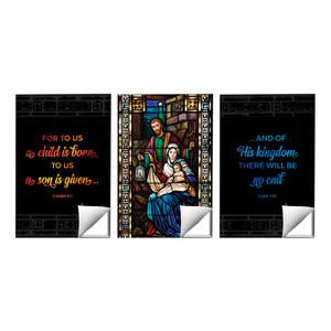 Christmas Stained Glass Scripture 24 x 36 Quick Change Art