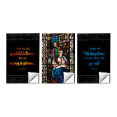 Christmas Stained Glass Scripture
