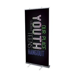 "Words Youth 4' x 6'7"" Vinyl Banner"