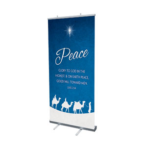 "Advent Peace 4' x 6'7"" Vinyl Banner"