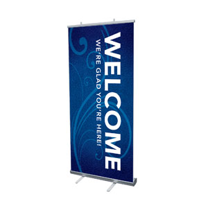 "Flourish Welcome 4' x 6'7"" Vinyl Banner"