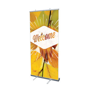 "Welcome Burst 4' x 6'7"" Vinyl Banner"