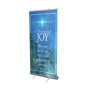"Christmas of Joy 4' x 6'7"" Vinyl Banner"