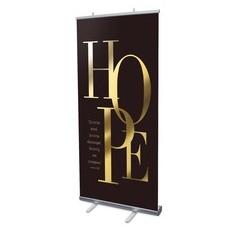 Gold Letters Hope Banner