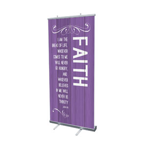 "Painted Wood Faith 4' x 6'7"" Vinyl Banner"