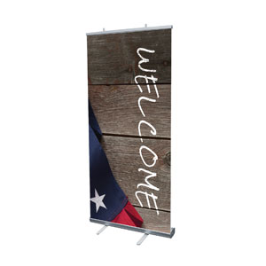 "American Flag Invited 4' x 6'7"" Vinyl Banner"