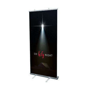 "Oh Holy Night 4' x 6'7"" Vinyl Banner"