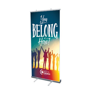 "BTCS You Belong Here 4' x 6'7"" Vinyl Banner"