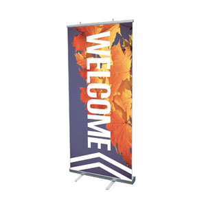 "Chevron Welcome Fall 4' x 6'7"" Vinyl Banner"