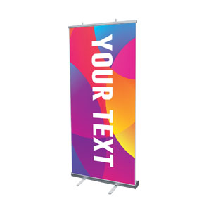 "Curved Colors Your Text 4' x 6'7"" Vinyl Banner"