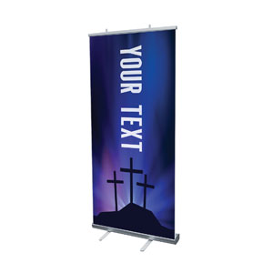 "Aurora Lights Celebrate Easter Your Text 4' x 6'7"" Vinyl Banner"