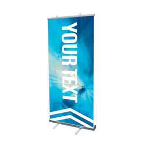 "Chevron Blue Your Text 4' x 6'7"" Vinyl Banner"