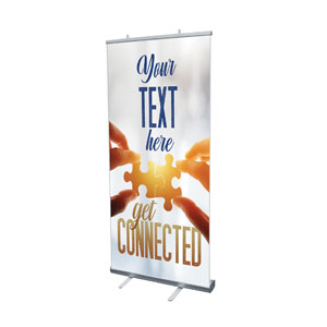 "Connected Your Text 4' x 6'7"" Vinyl Banner"