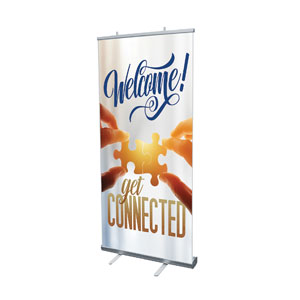 "Connected 4' x 6'7"" Vinyl Banner"