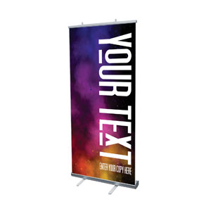 "Dark Smoke Your Text 4' x 6'7"" Vinyl Banner"