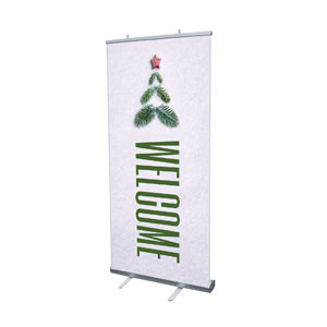 "Christmas At Tree Welcome 4' x 6'7"" Vinyl Banner"