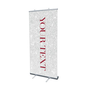 "Christmas Brings Hope Sparkle Your Text 4' x 6'7"" Vinyl Banner"