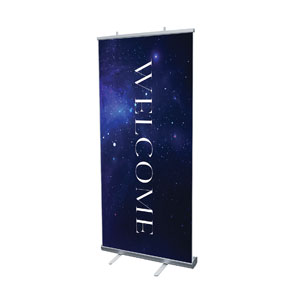 "Begins With Christ Manger Welcome 4' x 6'7"" Vinyl Banner"