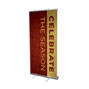"Celebrate The Season Advent 4' x 6'7"" Vinyl Banner"