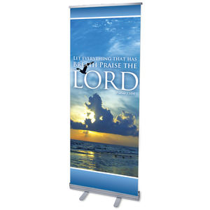 "Breath Praise Lord 2'7"" x 6'7""  Vinyl Banner"