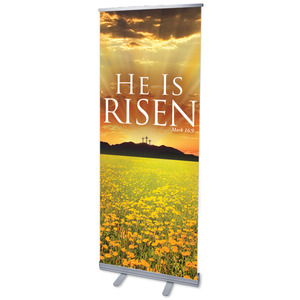 He is Risen Banners