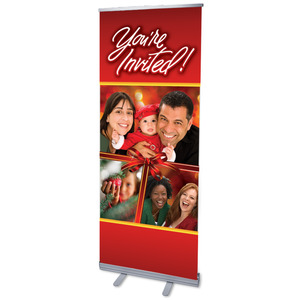 Christmas Invited Bow Banners