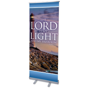 "Lord Is My Light 2'7"" x 6'7""  Vinyl Banner"