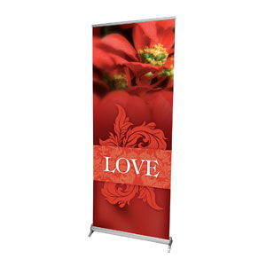 "Together for the Holidays Love 2'7"" x 6'7""  Vinyl Banner"