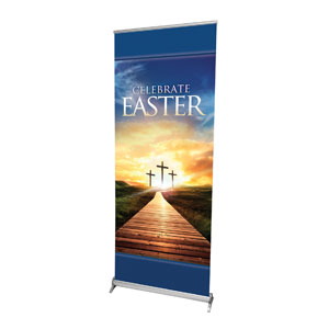 "Easter Crosses Path 2'7"" x 6'7""  Vinyl Banner"