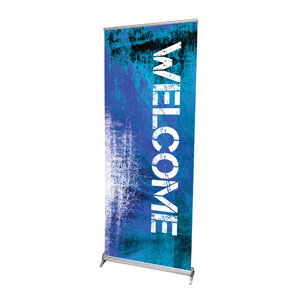 "Atomic Welcome 2'7"" x 6'7""  Vinyl Banner"