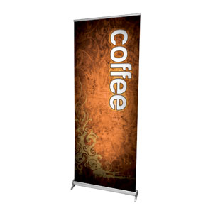 "Adornment Coffee 2'7"" x 6'7""  Vinyl Banner"