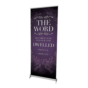 "Incarnation Dwelled 2'7"" x 6'7""  Vinyl Banner"