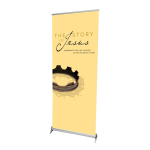 "The Story of Jesus 2'7"" x 6'7""  Vinyl Banner"