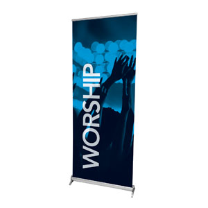 "Worship Together Pair L 2'7"" x 6'7""  Vinyl Banner"